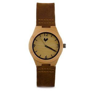 Buff Catalana Wood Watch The White Rooster Unisex